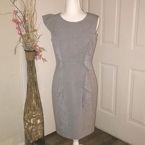 Calvin Klein Sheath Dress Heather Gray SZ 6 NWOT!